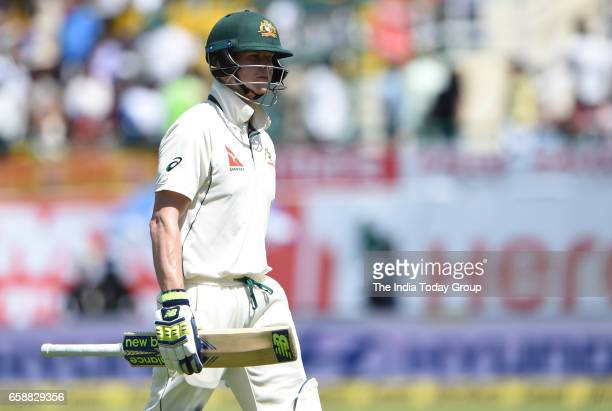 Steven Smith Captain of Australia during the 3rd day of their fourth test cricket match against Australia in Dharmsala
