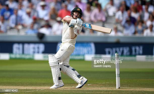 Steven Smith of Australia bats during day four of the 2nd Specsavers Ashes Test match at Lord's Cricket Ground on August 17, 2019 in London, England.