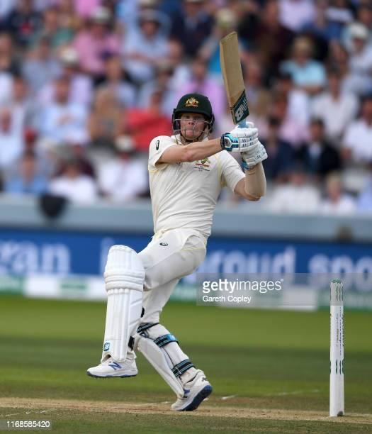 Steven Smith of Australia bats during day four of the 2nd Specsavers Ashes Test match at Lord's Cricket Ground on August 17 2019 in London England