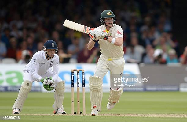 Steven Smith of Australia bats during day one of the 2nd Investec Ashes Test match between England and Australia at Lord's Cricket Ground on July 16...