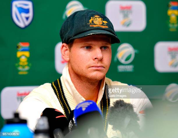 Steven Smith of Australia during day 3 of the 3rd Sunfoil Test match between South Africa and Australia at PPC Newlands on March 24 2018 in Cape Town...