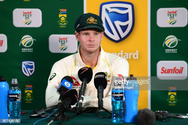 Steven Smith of Australia during day 5 of the 1st Sunfoil Test match between South Africa and Australia at Sahara Stadium Kingsmead on March 05 2018...