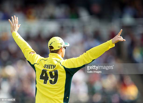 Steven Smith of Australia during the Momentum ODI Series 5th ODI match between South Africa and Australia at PPC Newlands on October 12 2016 in Cape...