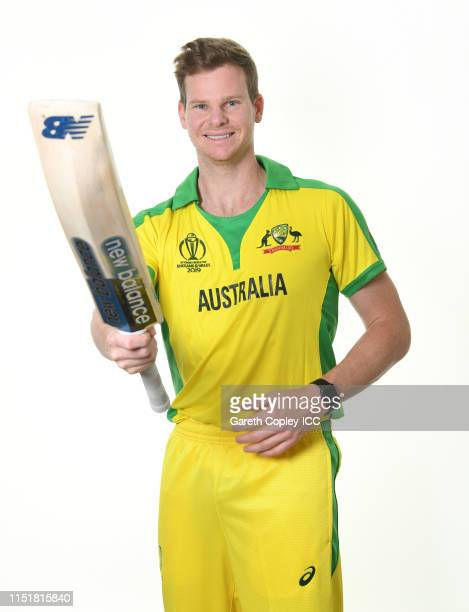 Steven Smith of Australia poses for a portrait prior to the ICC Cricket World Cup 2019 at on May 26, 2019 in Southampton, England.