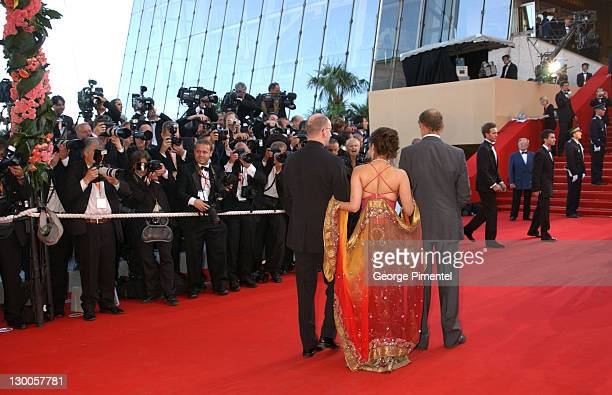 Steven Soderbergh Aishwarya Rai and Erri De Luca during 2003 Cannes Film Festival 'Fanfan La Tulipe' Opening Night Premiere at Palais des Festivals...