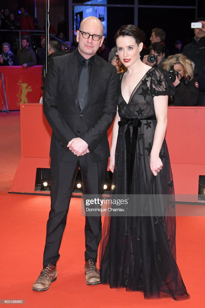 Steven Soderbergh and Claire Foy attend the 'Unsane' premiere during the 68th Berlinale International Film Festival Berlin at Berlinale Palast on February 21, 2018 in Berlin, Germany.