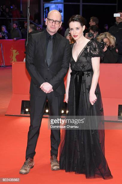 Steven Soderbergh and Claire Foy attend the 'Unsane' premiere during the 68th Berlinale International Film Festival Berlin at Berlinale Palast on...