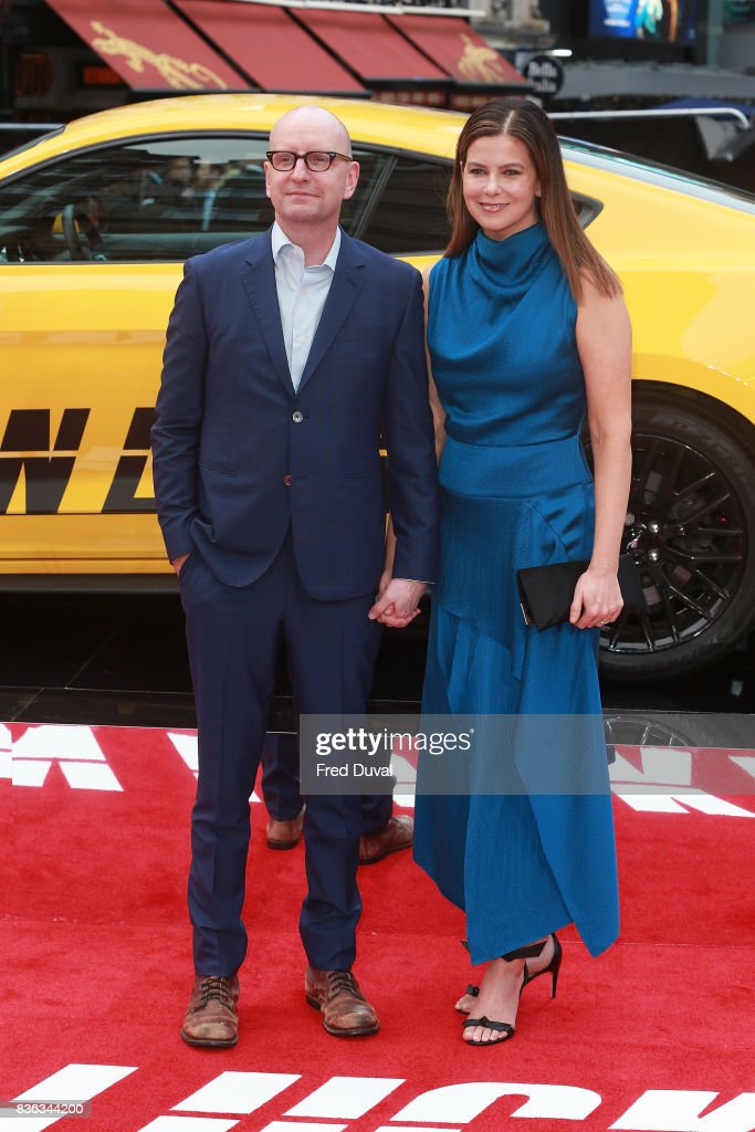 Steven Soderbergh and Jules Asner arrive at the 'Logan Lucky' UK premiere held at Vue West End on August 21, 2017 in London, England.