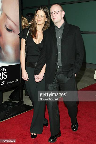 Steven Soderbergh and Jules Asner during Premiere Screening of Solaris at Pacific Cinerama Dome in Hollywood California United States