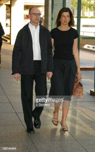 Steven Soderbergh and wife Jules Asner during Seabiscuit Special Screening New York City at Walter Reade Theatre at Lincoln Center in New York City...