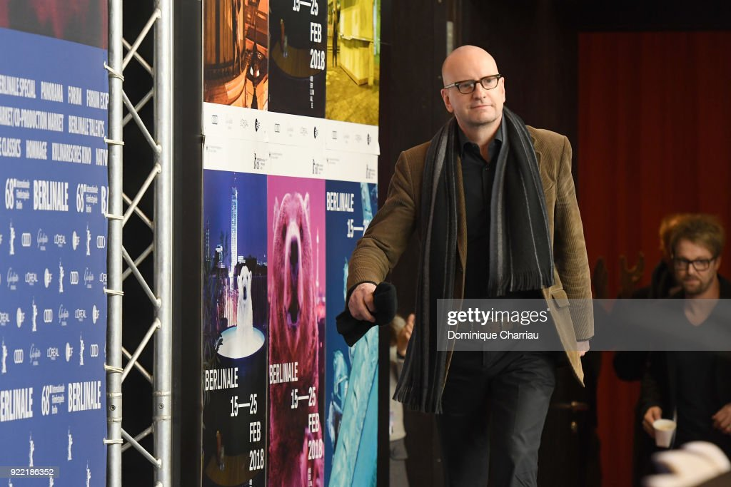Steven Soderbergh arrives at the 'Unsane' press conference during the 68th Berlinale International Film Festival Berlin at Grand Hyatt Hotel on February 21, 2018 in Berlin, Germany.