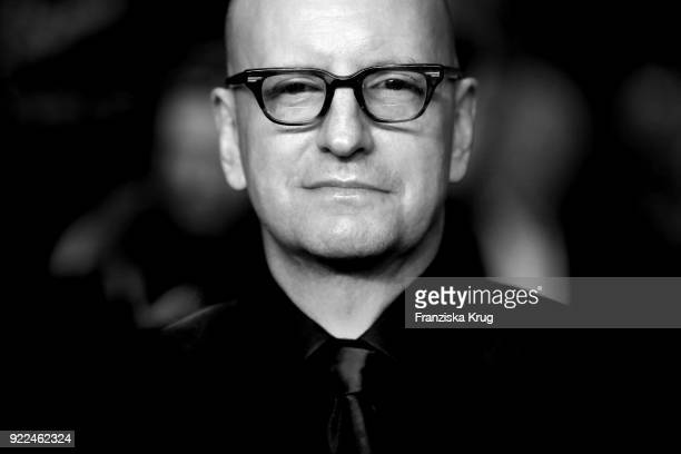 Steven Soderbergh attends the 'Unsane' premiere during the 68th Berlinale International Film Festival Berlin at Berlinale Palast on February 21 2018...