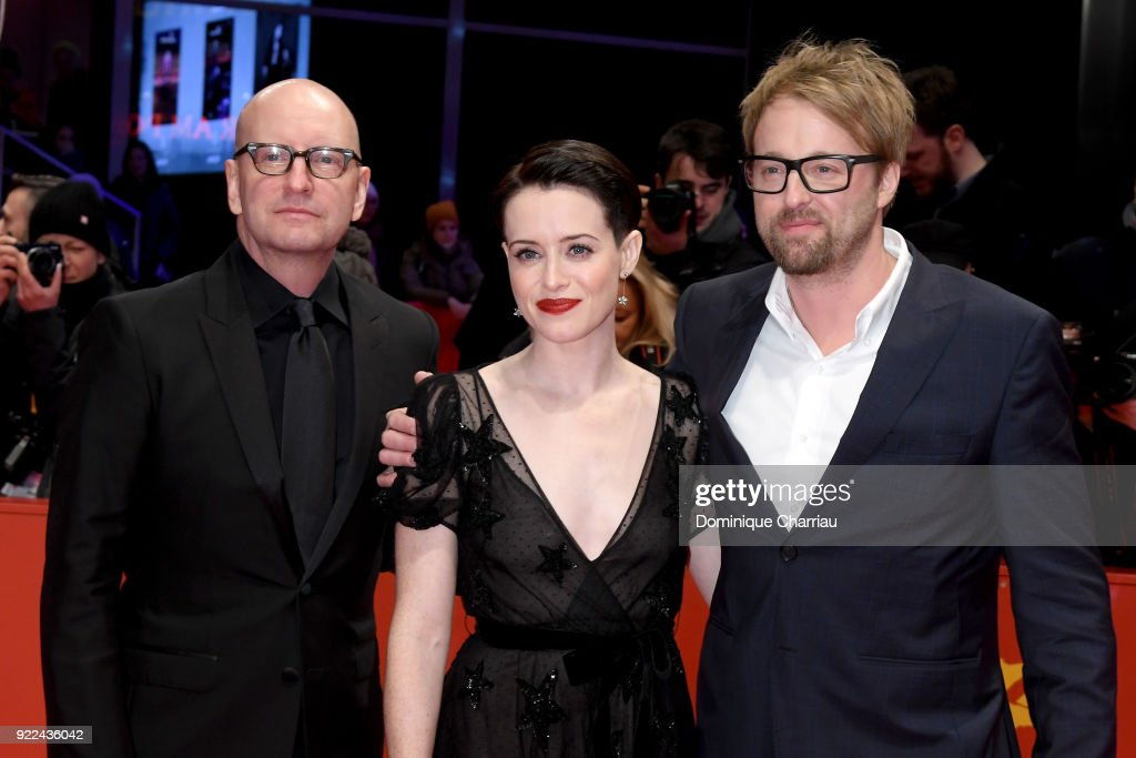Steven Soderbergh, Claire Foy and Joshua Leonard attend the 'Unsane' premiere during the 68th Berlinale International Film Festival Berlin at Berlinale Palast on February 21, 2018 in Berlin, Germany.