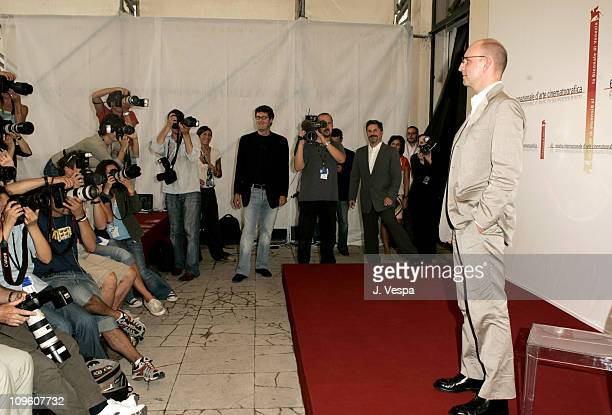 Steven Soderbergh director during 2005 Venice Film Festival 'Bubble' Photocall at Casino Palace in Venice Lido Italy