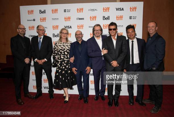 Steven Soderbergh Jake Bernstein Meryl Streep Scott Z Burns Gary Oldman Antonio Banderas Lawrence Grey and attend the North American Premiere of 'The...