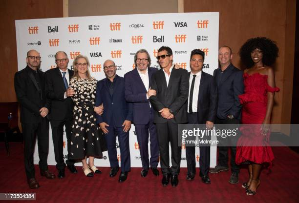 Steven Soderbergh Jake Bernstein Meryl Streep Scott Z Burns Gary Oldman Antonio Banderas Lawrence Grey and Jessica Allain attend the North American...