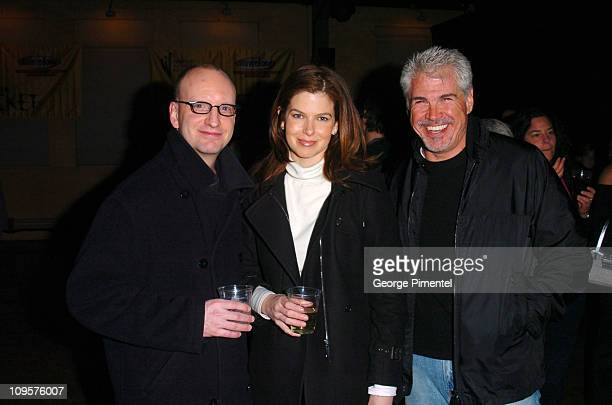 Steven Soderbergh Jules Asner and Gary Ross during 2005 Sundance Film Festival The Jacket Premiere After Party at Yoga Studio in Park City Utah...