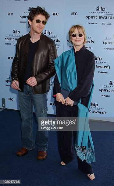 Steven Spacek and Sissy Spacek during The 18th Annual IFP Independent Spirit Awards Arrivals at Santa Monica Beach in Santa Monica California United...