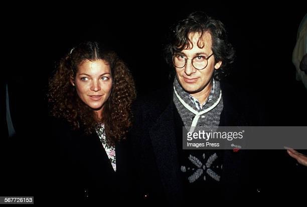 Steven Spielberg and Amy Irving circa 1984 in New York City