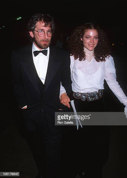 Steven Spielberg and Amy Irving during 56th Annual Academy Awards at Dorothy Chandler Pavilion in Los Angeles California United States