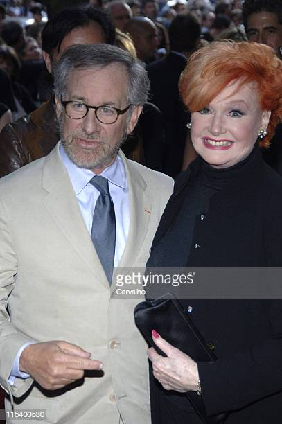 Steven Spielberg and Ann Robinson during 'War of the Worlds' New York City Premiere Arrivals at Ziegfield Theater in New York City New York United...