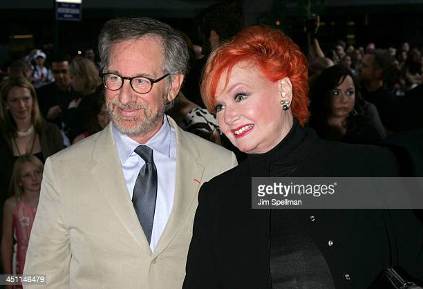 Steven Spielberg and Ann Robinson during War of the Worlds New York City Premiere Outside Arrivals at Ziegfeld Theatre in New York City New York...