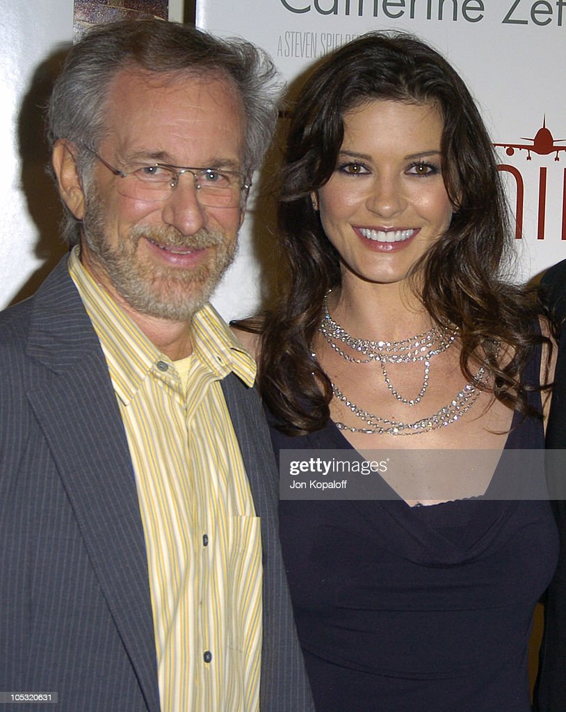 Steven Spielberg and Catherine Zeta-Jones during 'The Terminal' World Premiere - Red Carpet at Academy of Motion Picture Arts and Science in Beverly Hills, California, United States.