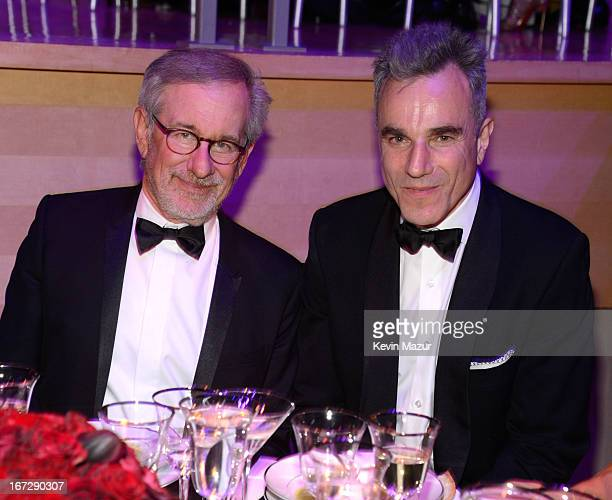 Steven Spielberg and Daniel Day Lewis attend TIME 100 Gala TIME'S 100 Most Influential People In The World at Jazz at Lincoln Center on April 23 2013...