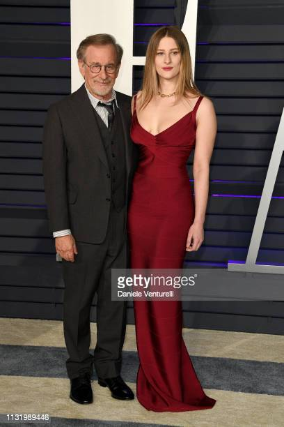 Steven Spielberg and Destry Spielberg attend 2019 Vanity Fair Oscar Party Hosted By Radhika Jones Arrivals at Wallis Annenberg Center for the...