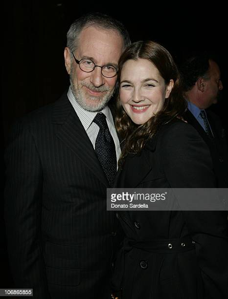 Steven Spielberg and Drew Barrrymore during Gucci Spring 2006 Fashion Show to Benefit Children's Action Network and Westside Children's Center Inside...