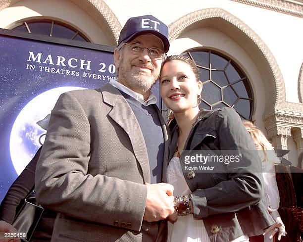 Steven Spielberg and Drew Barrymore at the 20th anniversary premiere of ET The ExtraTerrestrial at the Shrine Auditorium in Los Angeles Ca Saturday...