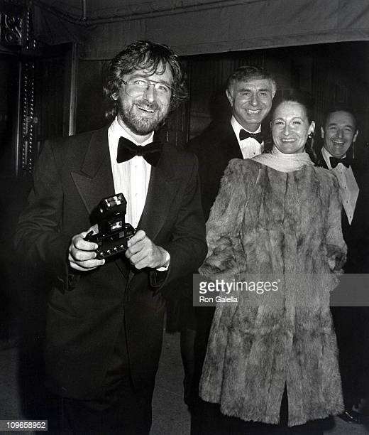 Steven Spielberg and guests during Steve Ross And Courtney Sale Wedding Reception 1982 at The Plaza Hotel in New York New York United States