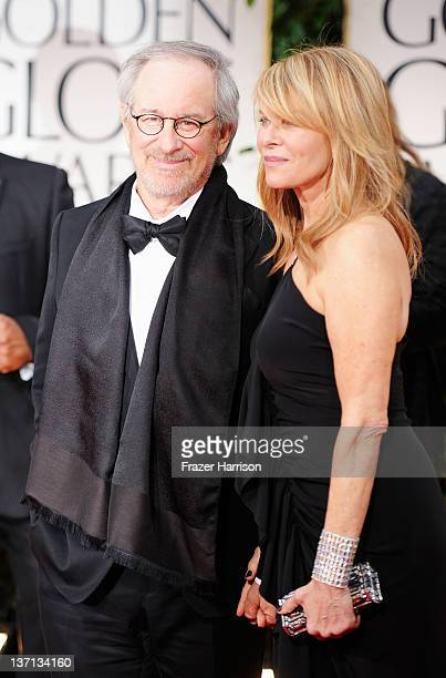 Steven Spielberg and Kate Capshaw arrive at the 69th Annual Golden Globe Awards held at the Beverly Hilton Hotel on January 15 2012 in Beverly Hills...