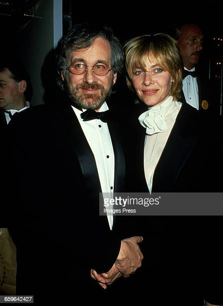 Steven Spielberg and Kate Capshaw attend the American Museum of the Moving Image's Salute to Steven Spielberg circa 1994 in New York City