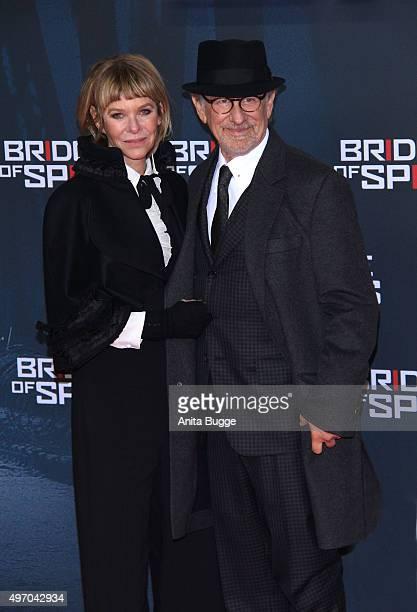 Steven Spielberg and Kate Capshaw attend the 'Bridge of Spies Der Unterhaendler' world premiere at Zoo Palast on November 13 2015 in Berlin Germany
