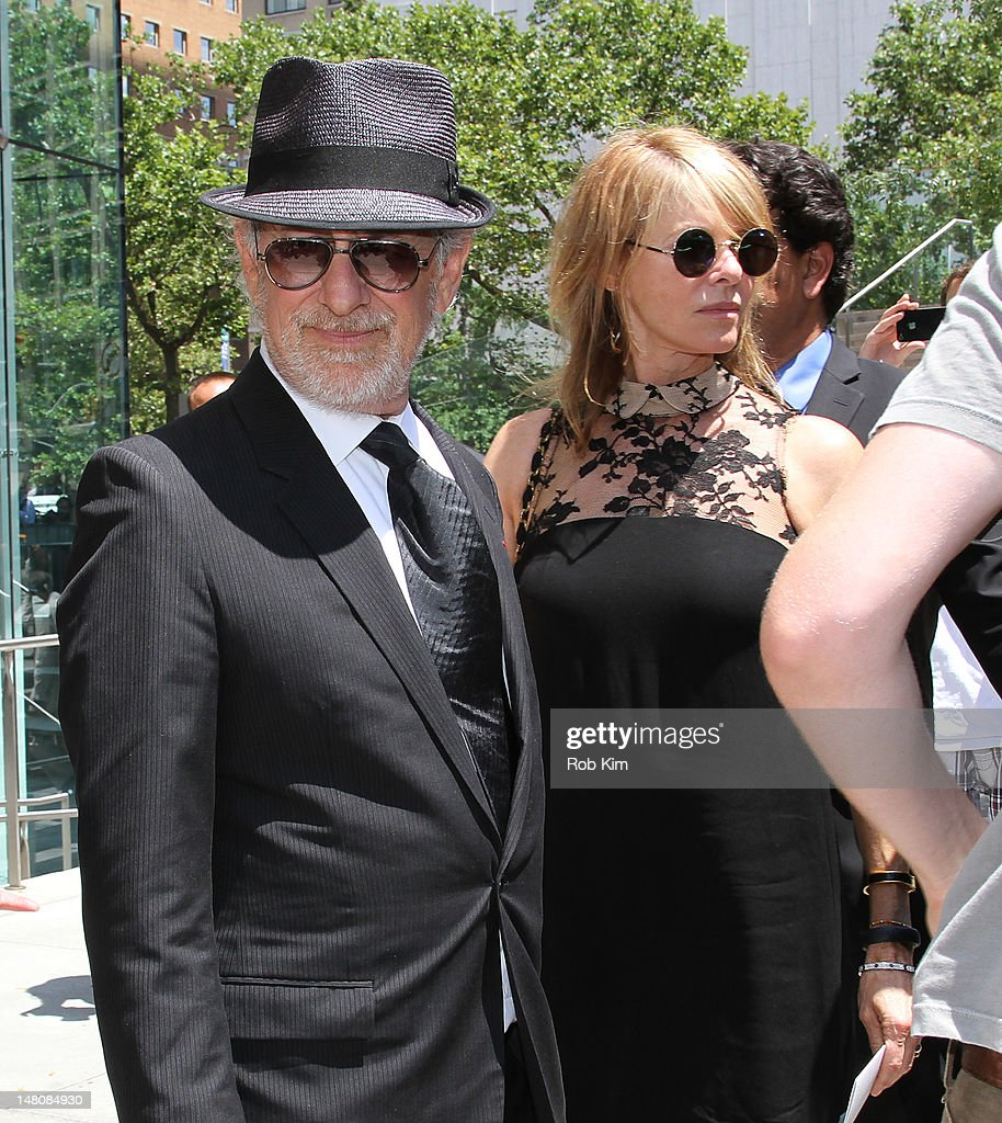 Steven Spielberg and Kate Capshaw attend the Nora Ephron Memorial Service on July 9, 2012 in New York City.