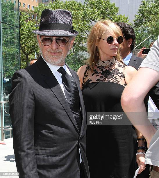 Steven Spielberg and Kate Capshaw attend the Nora Ephron Memorial Service on July 9 2012 in New York City