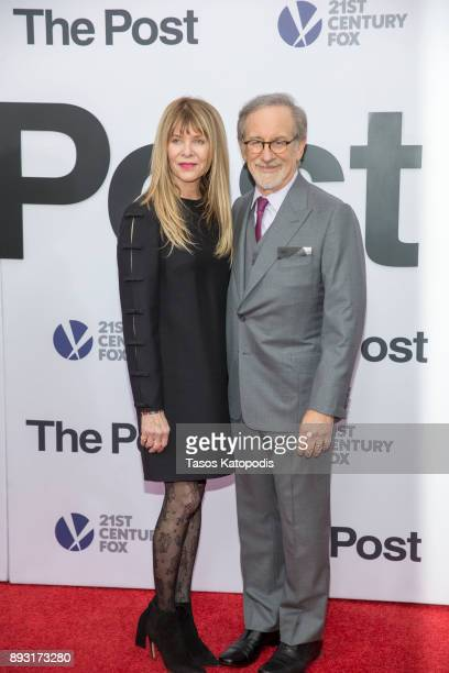 Steven Spielberg and Kate Capshaw attends the 'The Post' Washington DC Premiere at The Newseum on December 14 2017 in Washington DC
