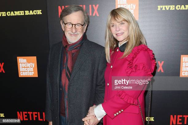 Steven Spielberg and Kate Capshaw attends the world premiere of Five Came Back at Alice Tully Hall Lincoln Center on March 27 2017 in New York City
