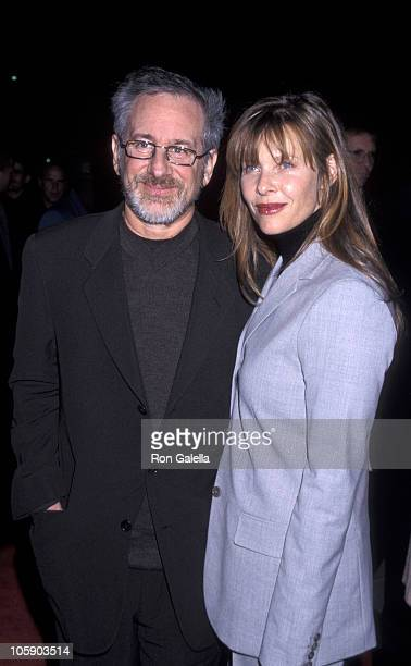 Steven Spielberg and Kate Capshaw during 'Amistad' Los Angeles Premiere at Samuel Goldwyn Theatre in Beverly Hills California United States