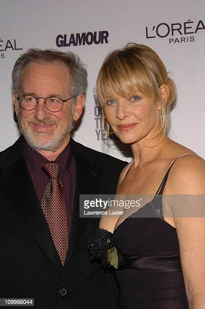 Steven Spielberg and Kate Capshaw during Glamour Magazine Salutes The 2004 Women of the Year Arrivals at American Museum of Natural History in New...