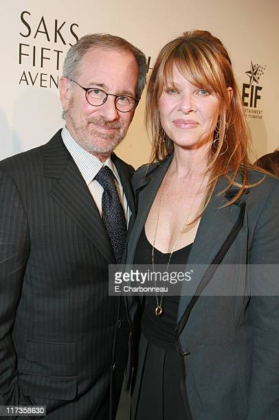 Steven Spielberg and Kate Capshaw during Saks Fifth Avenue's Unforgettable Evening Benefitting EIF's Women's Cancer Research Fund Red Carpet at...