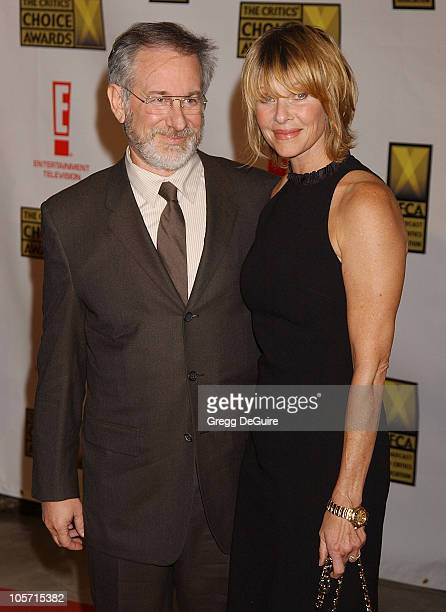 Steven Spielberg and Kate Capshaw during The 8th Annual Critics' Choice Awards Beverly Hills at Beverly Hills Hotel in Beverly Hills California...