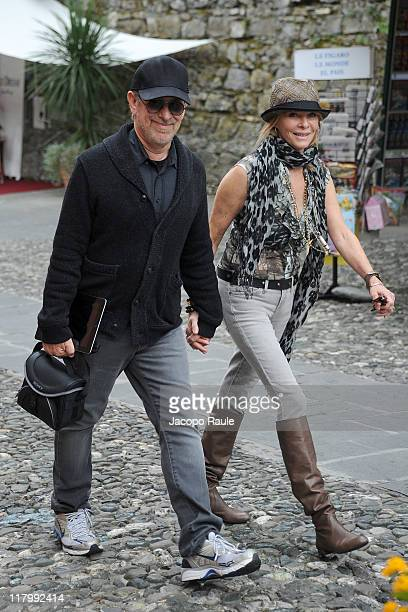 Steven Spielberg and Kate Capshaw seen on July 2 2011 in Portofino Italy