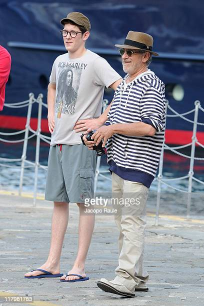 Steven Spielberg and Sawyer Spielberg are sighted on June 30 2011 in Portofino Italy