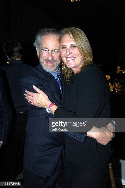 Steven Spielberg and Susan Crown during Shoah Foundation Exclusive Event at Amblin Entertainment on Universal Studios in Universal City California...