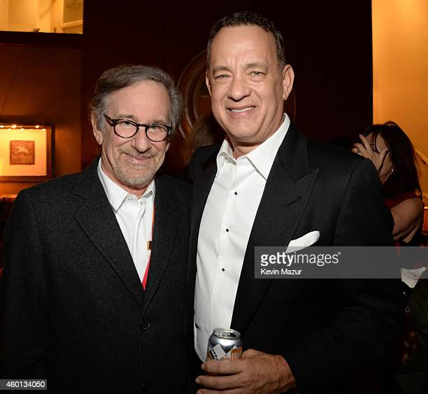 Steven Spielberg and Tom Hanks attend the 37th Annual Kennedy Center Honors party at Mandarin Oriental Hotel on December 7 2014 in Washington DC