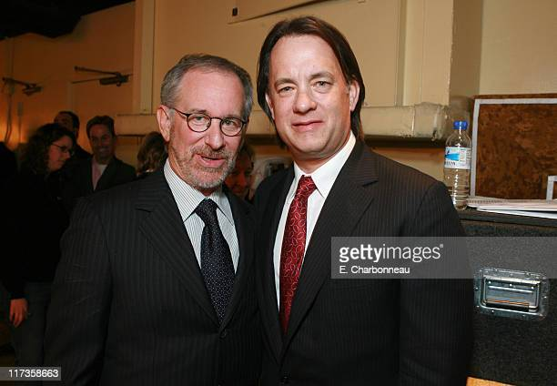 Steven Spielberg and Tom Hanks during Saks Fifth Avenue's Unforgettable Evening Benefitting EIF's Women's Cancer Research Fund at Regent Beverly...