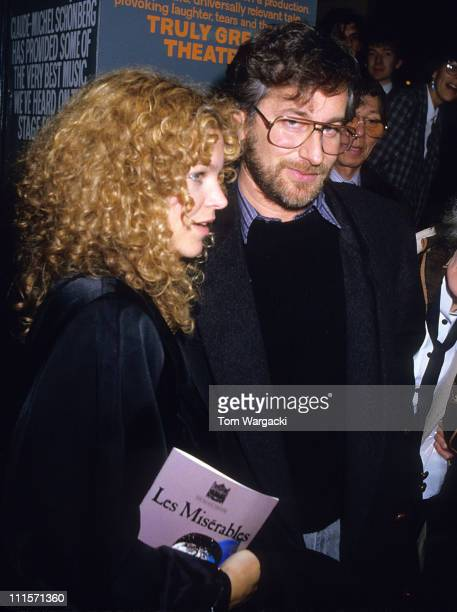 Steven Spielberg and wife Amy Irving at musical Les Miserables