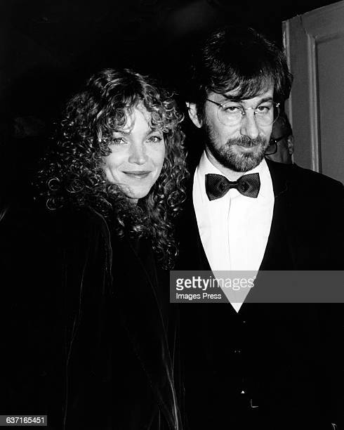 Steven Spielberg and wife Amy Irving circa 1986 in New York City